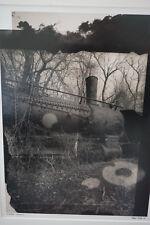 """Vincent Serbin Framed Modernist Art Photograph """"Allegorical Locomotive"""" 1991"""