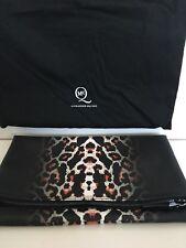 McQ by Alexander McQueen Fold Clutch Black w/ White & Red Leopard Pixel Print