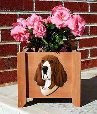 Basset Hound Planter Flower Pot Tri