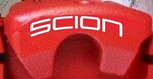 SCION Curved Brake Caliper Decals (8)
