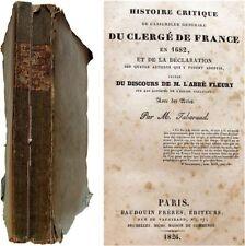 Histoire critique Assemblée générale clergé France en 1682 Tabaraud Fleury 1826