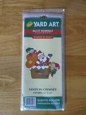 "Yard Art Do It Yourself Pattern Ya30048 ""Santa in Chimney"" *New*"
