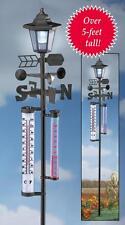 "Solar Powered Weather Vane Lantern Lawn Garden Stake 62""H Iron Plastic"