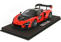McLaren Senna 2018  Red Accent completa di base e vetrina scala 1/18