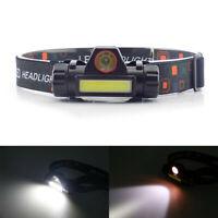 Waterproof LED Headlamp USB Rechargeable Flashlight Headlight head light Torch