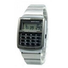 Casio Digital Moda Data Bank Plata De los hombres CA-506-1D