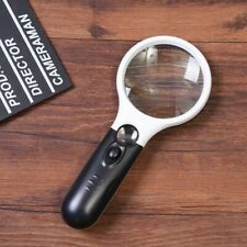 B&w Reading Magnifier 10x & 20x LED Light Magnifying Glass Illuminated Hand Wow