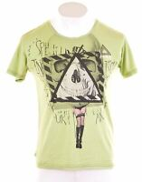 LEE Mens Graphic T-Shirt Top Small Green Cotton  JM10