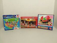 Lot of 3 Jigsaw Puzzles 60,100,500 Random Puzzles All new Sealed. PuzzleBug LOOK