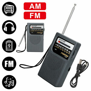 Mini Portable AM FM Radio with Pointer Design Receiver Player Battery Operated