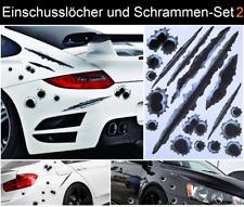 Einschusslöcher Kratzer Schrammen Auto Aufkleber Sticker Tattoo 3D Optik NEU #2