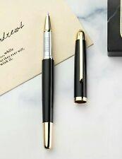 ORIGINAL Stylo avec petite plume Régent noir mat laqué et doré