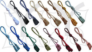 Dressing Gown Cord with Tassels, Tassled Curtain Tie Back, 60 Inch or 150cm Long