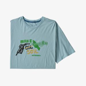 T-shirt uomo Patagonia Men's Make Soil Organic - col. big sky blue