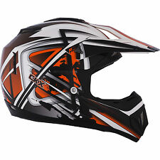 NEW MEDIUM Kimpex CKX TX529 Off Road Motocross Helmet Leak Orange Black #B254