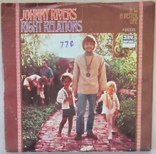 Johnny Rivers - Right Relations, Vinyl, 45rpm,1968, Imperial - 66335, Very Good+