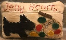 New ListingPrimitive *Jelly Beans* Scottie Dog Shelf Pillow-Made From Vintage Quilt