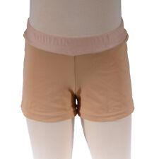 Girls Size 6, Beige Tan Bike Shorts, Girl's Active Dance Gym Running Swim Wear