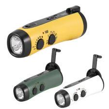 Dynamo LED Lamp Light Lantern FM Radio Emergency Alarm USB 5V Battery Charger