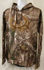 b581d5cc96991 Cinch Outdoor REALTREE camo pullover hoodie hooded sweatshirt. mens size  SMALL