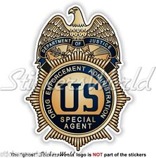 US Justice Department DRUG ENFORCEMENT ADMINISTRATION Badge DEA Sticker Decal