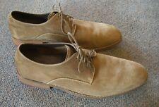 COLE HAAN Men's 10 1/2M, Tan Suede Lace Up Business Casual Shoes CO8842