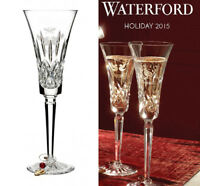 New Waterford Crystal 12 Days Of Christmas Champagne Flute Glass 2 Turtle Doves