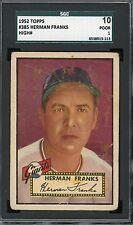 """1952 Topps #385   Herman Franks   Giants      """"High Number""""   SGC 10!!"""