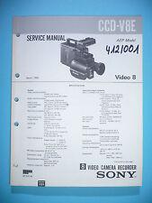 Service Manual-Anleitung für Sony CCD-V8E ,ORIGINAL
