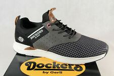 Dockers Men's Slippers Lace Up Trainers Low Shoes Black New
