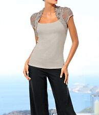Shirttop mit Spitze in Bolero-Optik von Ashley Brooke Event Gr.40 NEU
