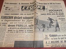 L'EQUIPE FOOTBALL SOCHAUX - BOXE FAMECHON VAINQUEUR 1951 ( ref A 1 )