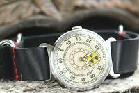 POBEDA Wrist watch Radiation Chernobyl USSR 12 Hours For man +Leather Strap