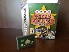TEXAS HOLD'EM POKER --- GAMEBOY ADVANCED GBA With Box