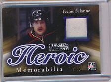 Teemu Selanne Jets 2015-16 Leaf ITG Heroic Game Used Jersey Relic 3/15