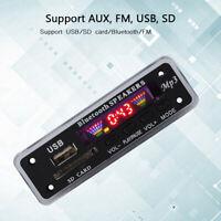 Bluetooth 5.0 MP3 Decoder Board Audio Module USB AUX TF FM Radio for Car