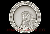 3D Model STL for CNC Router Artcam Aspire Merry Christmas Santa Claus D695