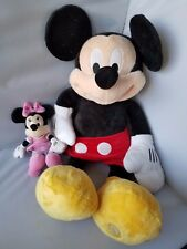 Disney Large Mickey Mouse Plush Toy Stuffed Animal +FREE Minnie Mouse Pink Dress