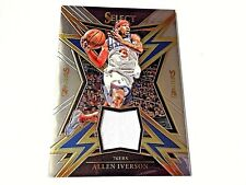 Allen Iverson 2018 Panini Select Sparks Game Worn Jersey #SP-SIV Phila 76ers