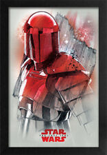 STAR WARS THE LAST JEDI GUARD PROFILE 13x19 FRAMED GELCOAT POSTER EPISODE XIII!!