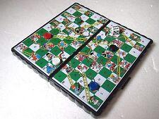 MINI MAGNETIC TRAVEL GAME  SNAKE & LADDER  12cm x 12cm pocket size travel pack
