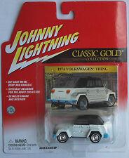 Johnny Lightning-VW 181 Thing Blanc/Noir Nouveau/Neuf dans sa boîte