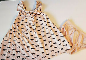 Baby Gap outfit 18-24 months Pink black cheetah cat Top and diaper cover