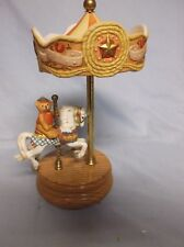 Willitts Teddy Bear Carousel #05006 Plays Camelot Music Box