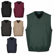 MEN'S WATER RESISTANT & WIND PROOF VEST, CROSSOVER V NECK, ZIP POCKETS, S-6XL