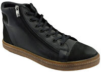 $230 OVATTO Black Calf Leather Ankle Boots Sneakers Men Shoes NEW COLLECTION