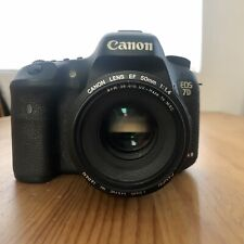 Canon EOS 7D Mark II 20.2MP Digital SLR Camera - Black with Canon Lens EF 50mm