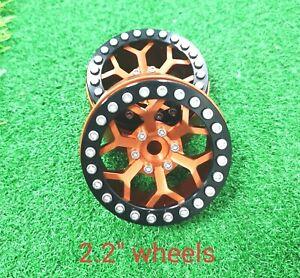 VITAVON CNC Alu 2.2 beadlock wheels Rims Fit 2.2 Crawler Tires sells 2pcs orange