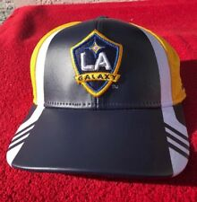 ADIDAS LA GALAXY MAJOR LEAGUE SOCCER MLS TEAM EMBROIDERED SNAP BACK HAT CAP
