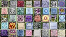 50 PC Wholesale Lot Mandala Square Floor Pillow Cover Cotton Pouf Daybed Seating